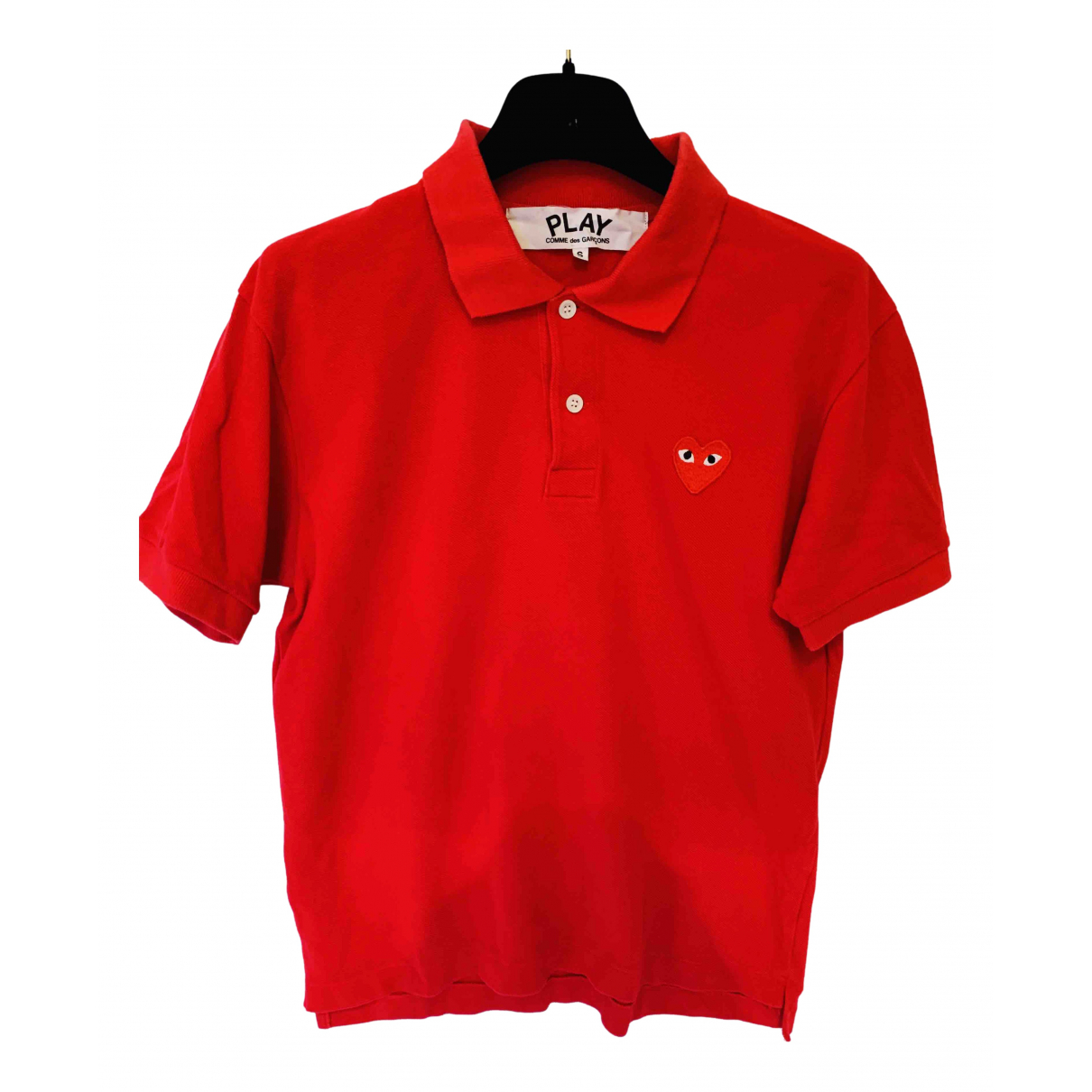Play Comme Des Garçons N Red Cotton Polo shirts for Men S International
