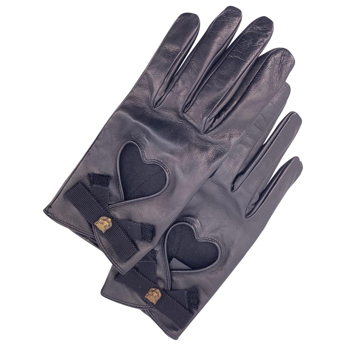 Gucci \N Black Leather Gloves for Women L International
