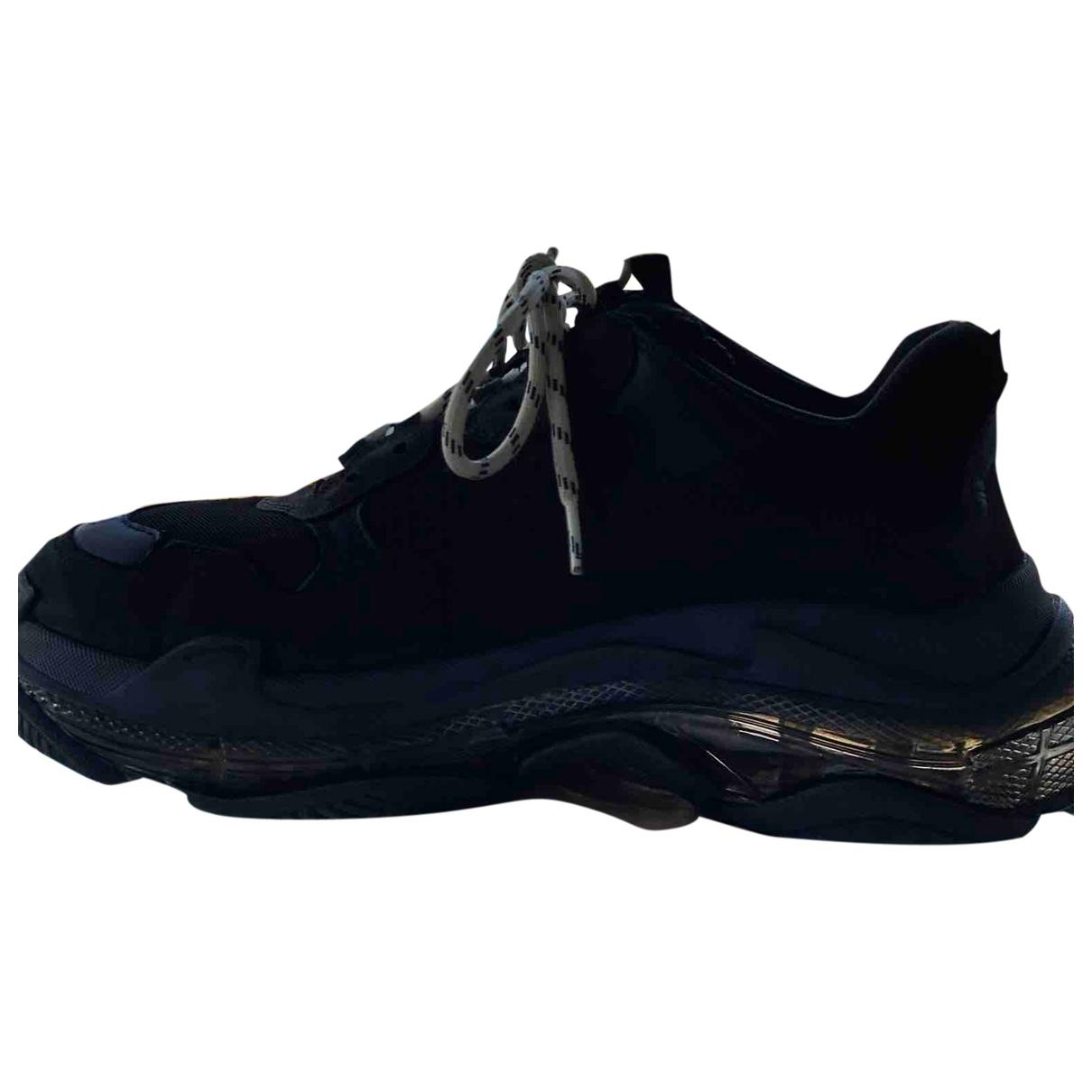Balenciaga Triple S Sneakers in  Schwarz Polyester