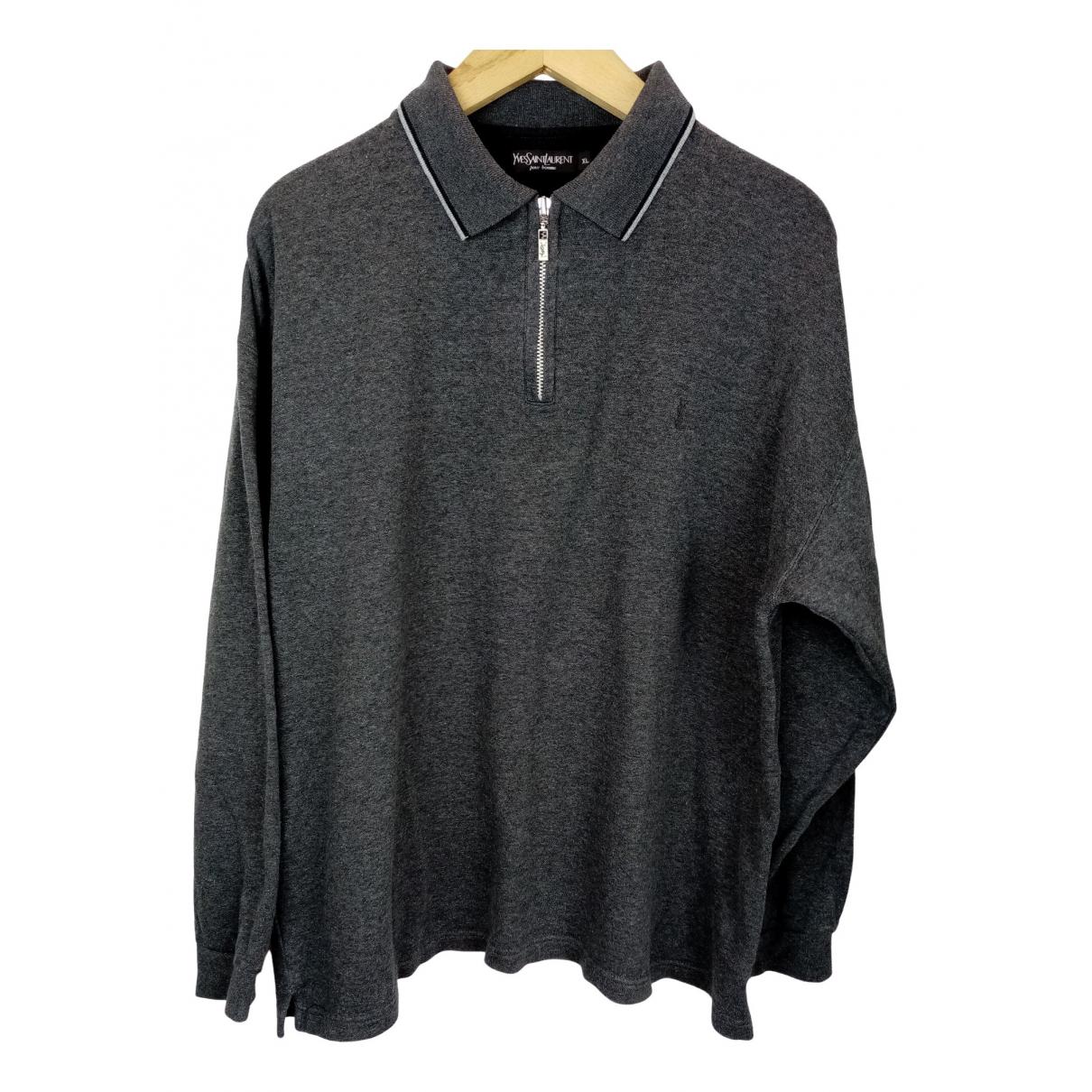 Yves Saint Laurent - Pulls.Gilets.Sweats   pour homme en coton - gris