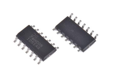 DiodesZetex 74HC05S14-13, , Hex Schmitt Trigger, Open Drain Inverter, 14-Pin SOIC (25)