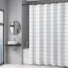 Cortina de ducha con patron de cuadros