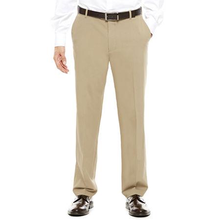 Van Heusen Stretch Flex Straight Fit No-Iron Dress Pants, 40 32, Beige