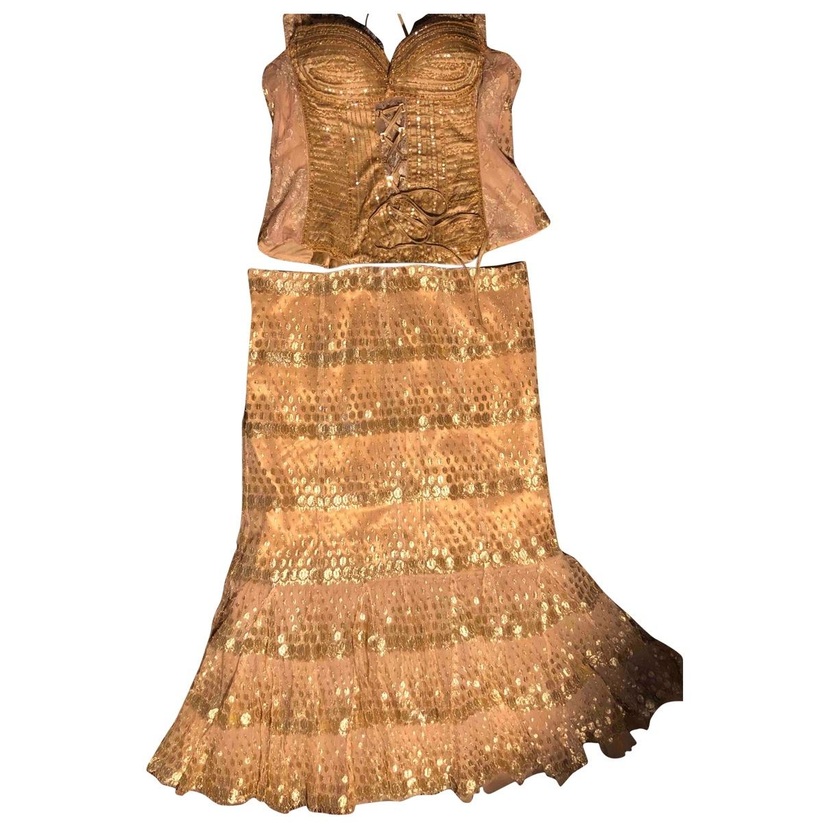 Zuhair Murad - Robe   pour femme en a paillettes - dore