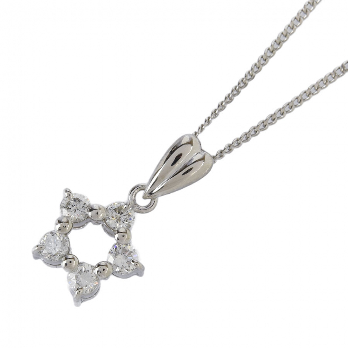 Non Signé / Unsigned \N Platinum necklace for Women \N