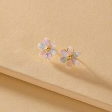 Pendientes con flor