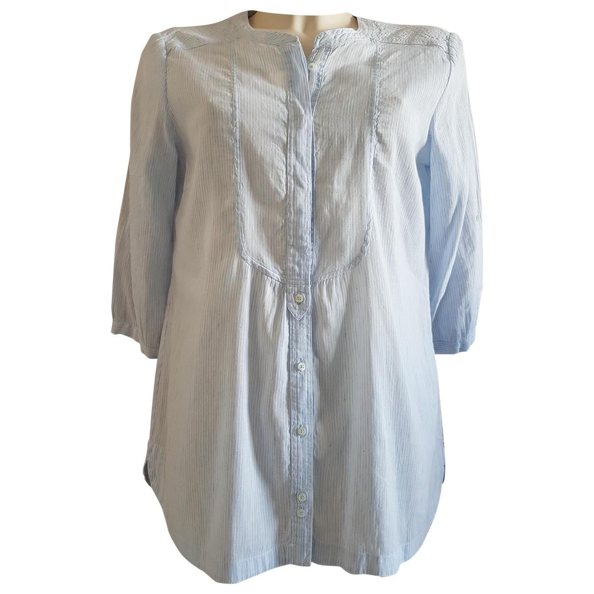 Massimo Dutti \N Kleid in  Blau Leinen