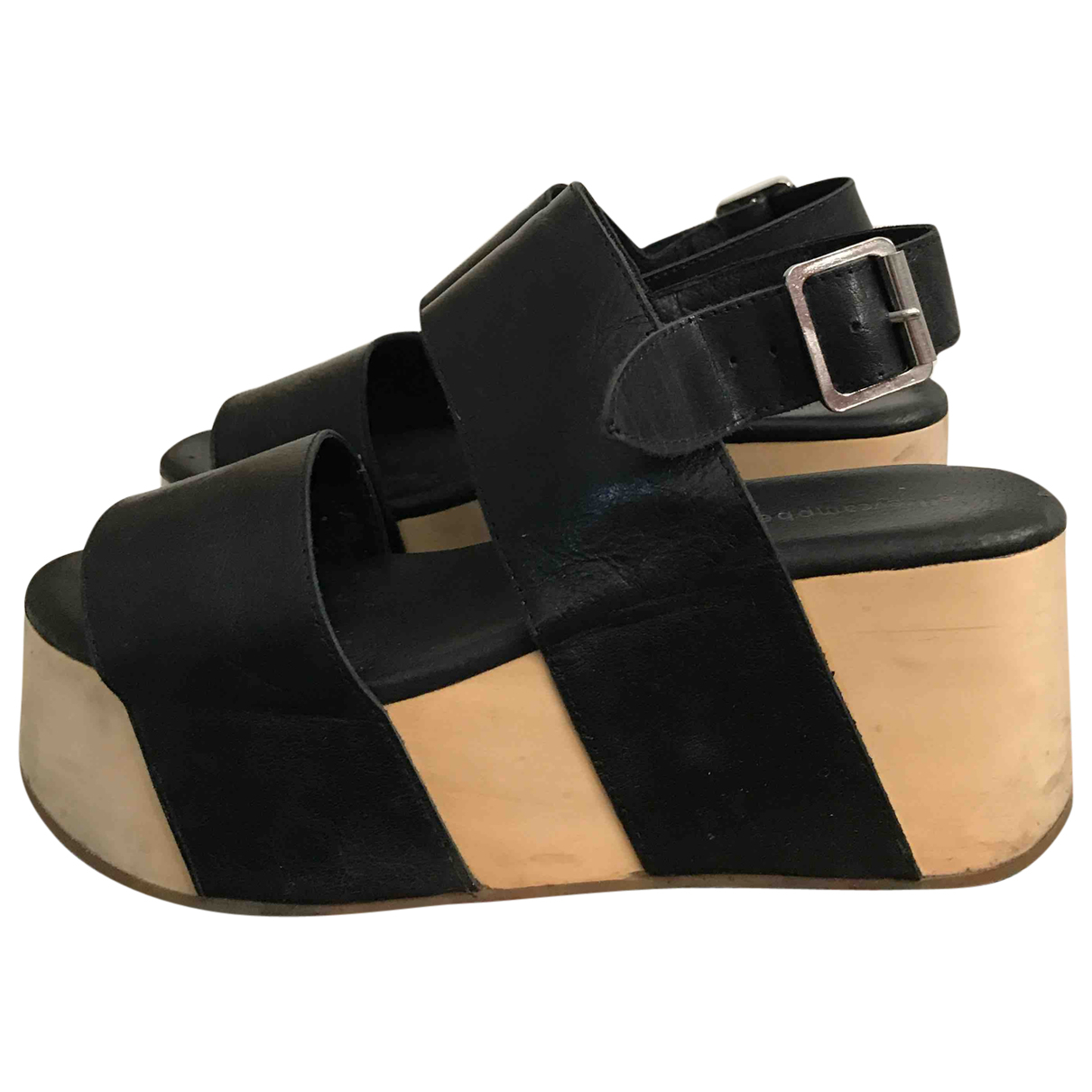 Jeffrey Campbell \N Black Leather Sandals for Women 38 IT