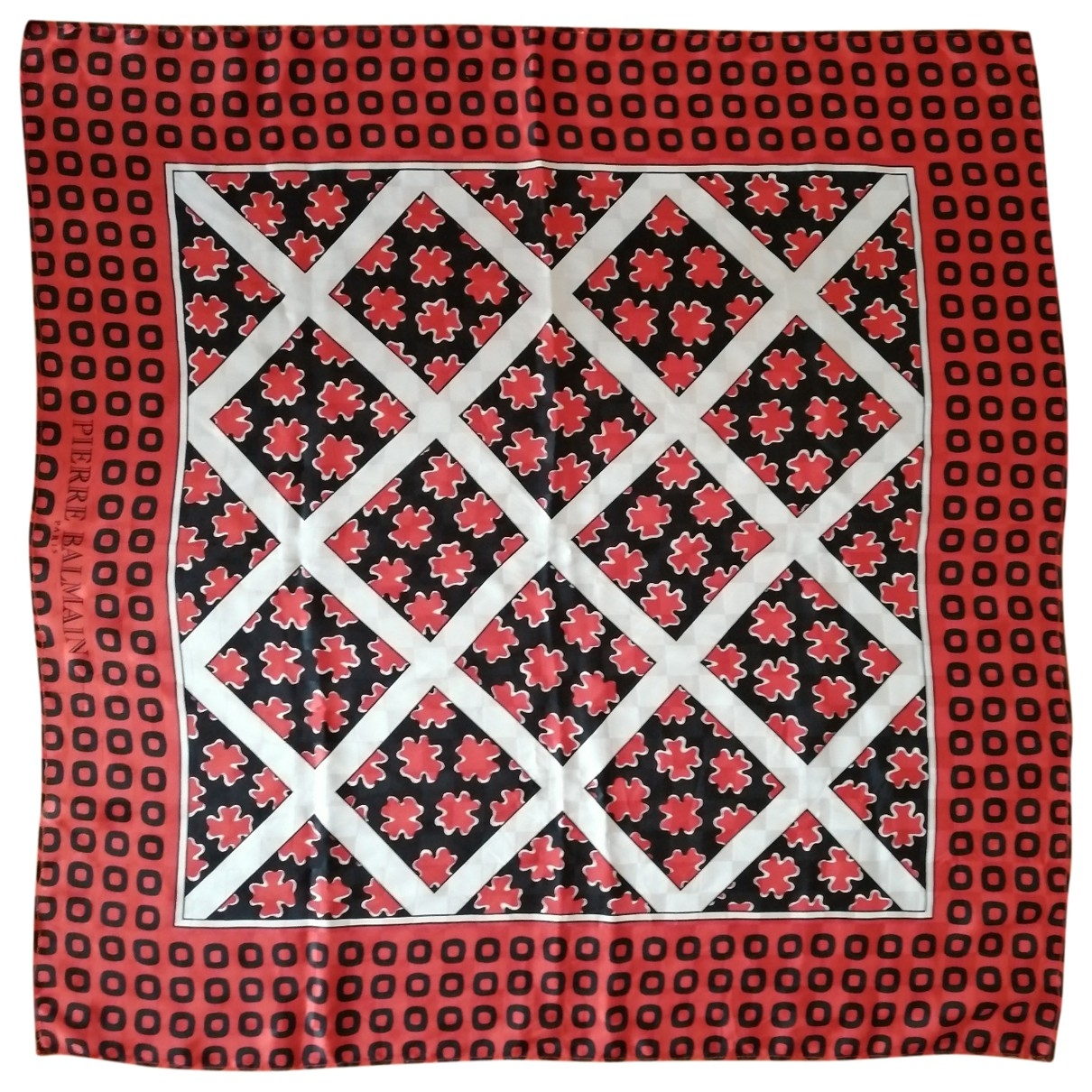 Pierre Balmain - Foulard   pour femme en soie - rouge
