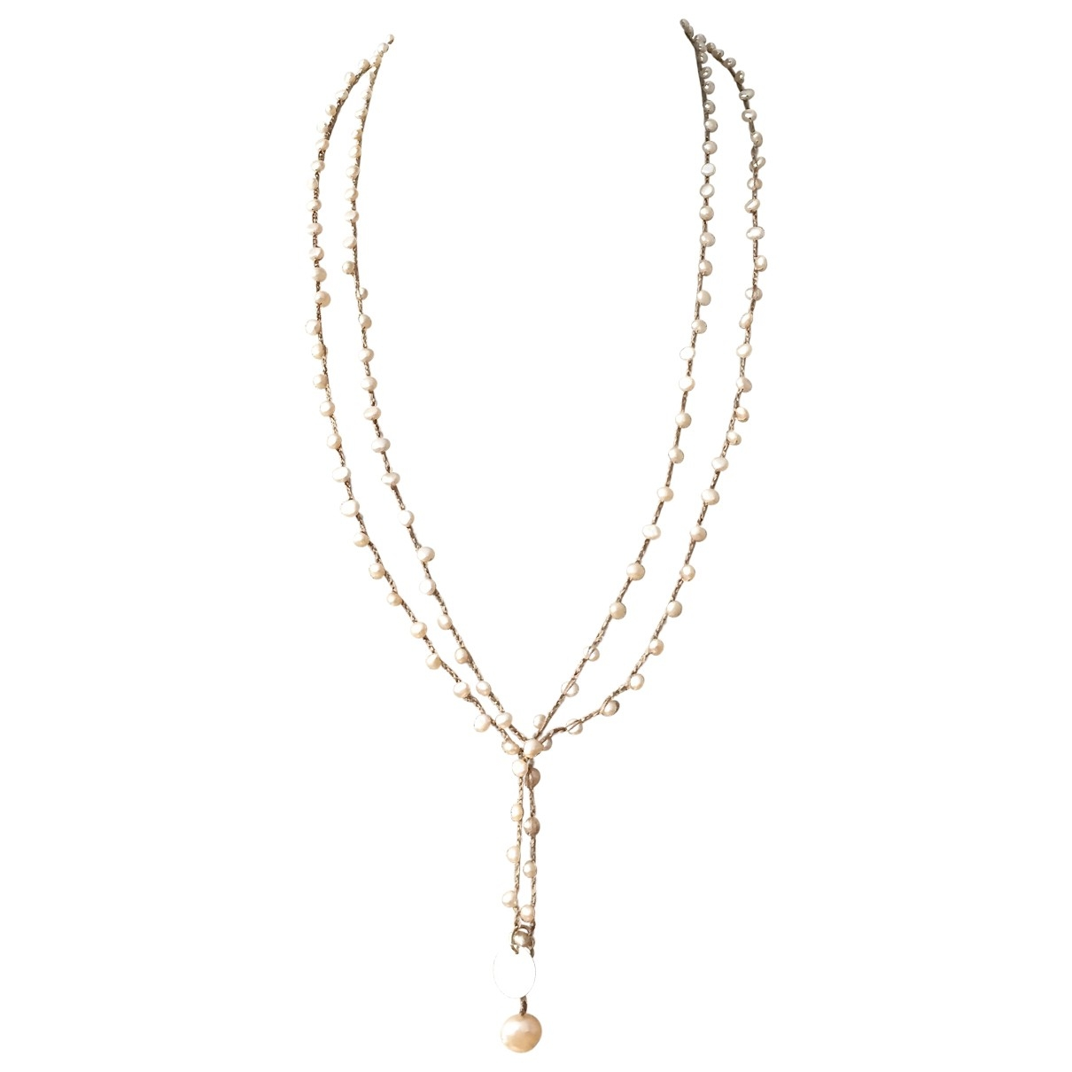 Non Signé / Unsigned \N Ecru Pearls Long necklace for Women \N