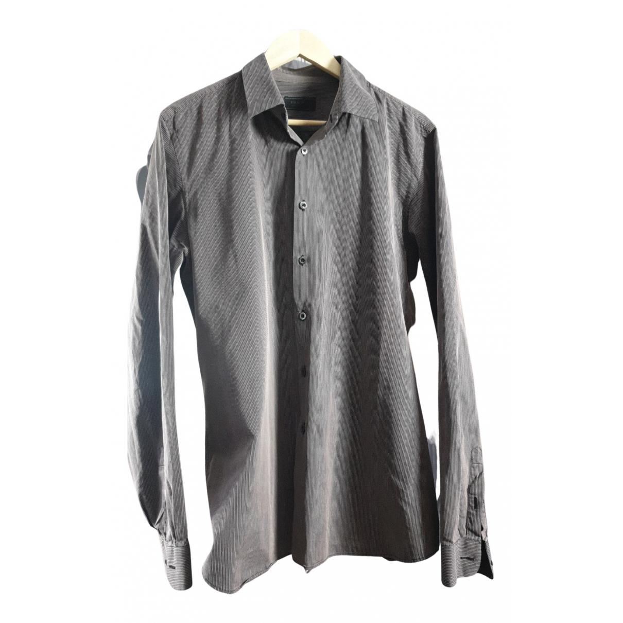 Prada - Chemises   pour homme en coton - marron