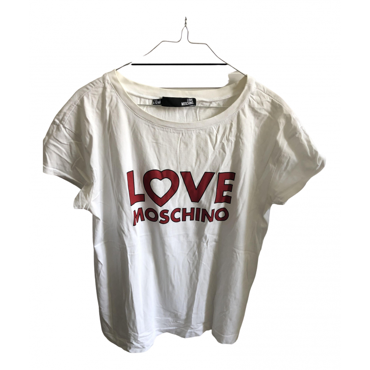 Moschino Love \N Top in  Weiss Baumwolle