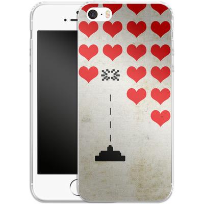 Apple iPhone 5 Silikon Handyhuelle - Heart Attack von Claus-Peter Schops