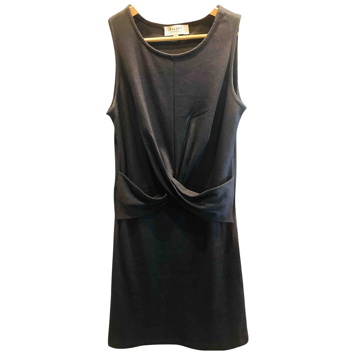 Balzac Paris - Robe   pour femme en coton - elasthane - noir