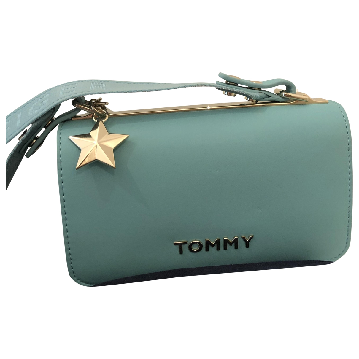 Tommy Hilfiger - Sac a main   pour femme en cuir - turquoise