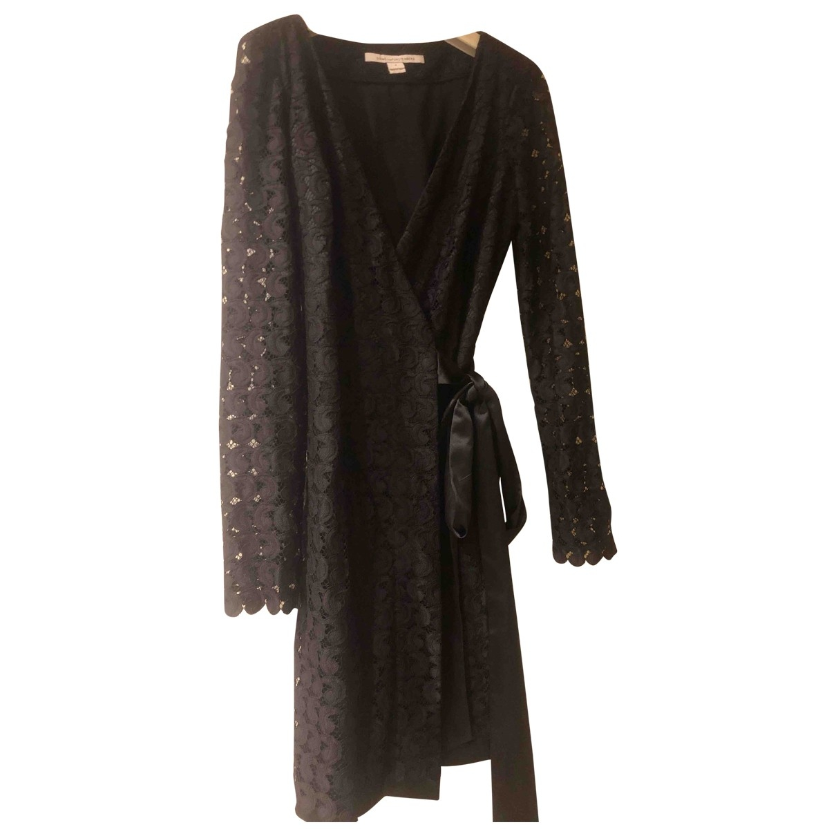 Diane Von Furstenberg \N Black Lace dress for Women 4 UK