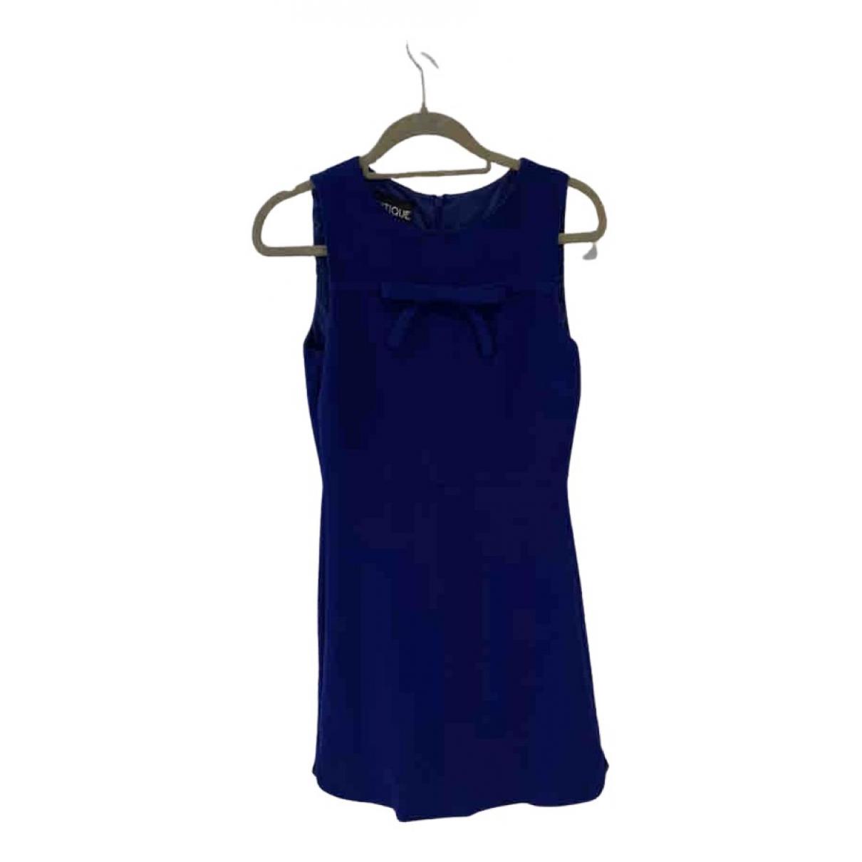 Moschino N Blue Wool dress for Women 8 UK
