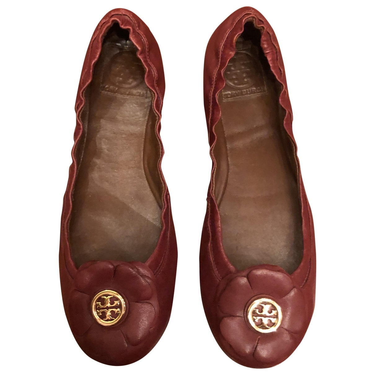 Tory Burch \N Burgundy Leather Ballet flats for Women 7.5 US