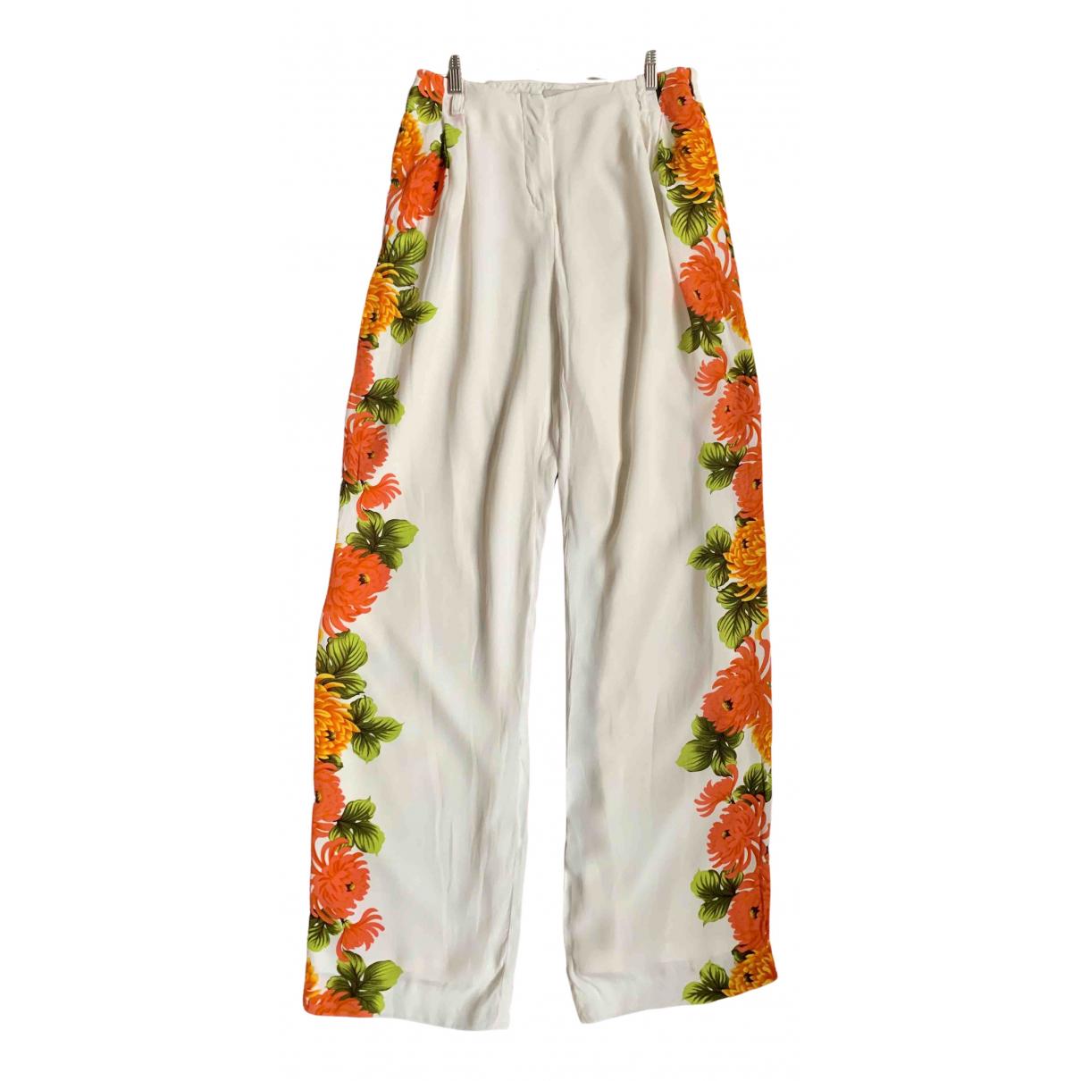 Paul & Joe \N Multicolour Silk Trousers for Women 38 FR