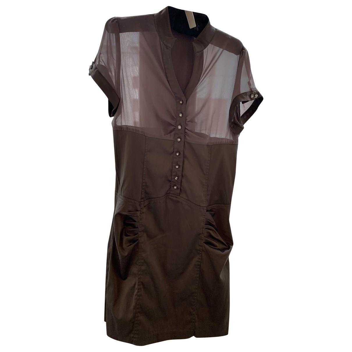 Non Signe / Unsigned \N Kleid in  Braun Baumwolle