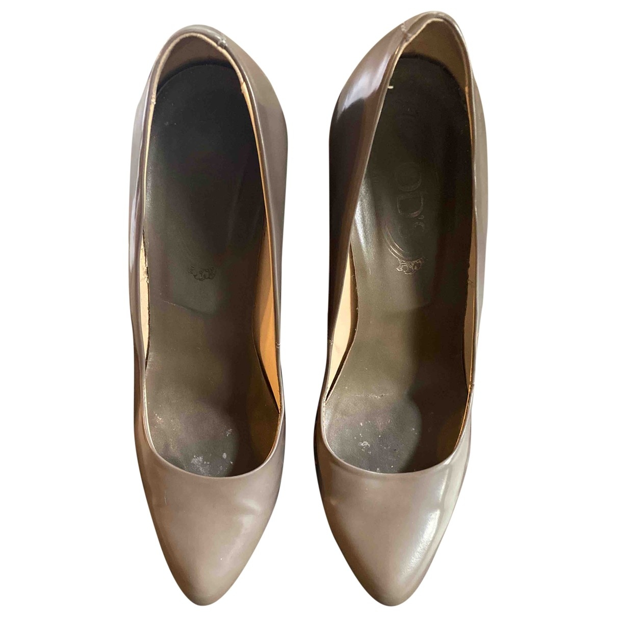 Tod's \N Grey Patent leather Heels for Women 39 EU