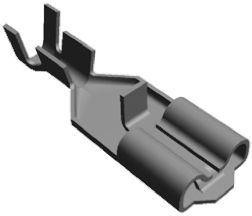 TE Connectivity Positive Lock .250 Mk II Series Crimp Receptacle, 6.35 x 0.81mm, 0.76mm² to 2mm², 18AWG to 14AWG, Tin (50)