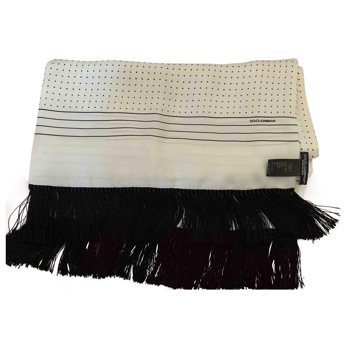 Dolce & Gabbana - Foulard   pour femme en soie - blanc