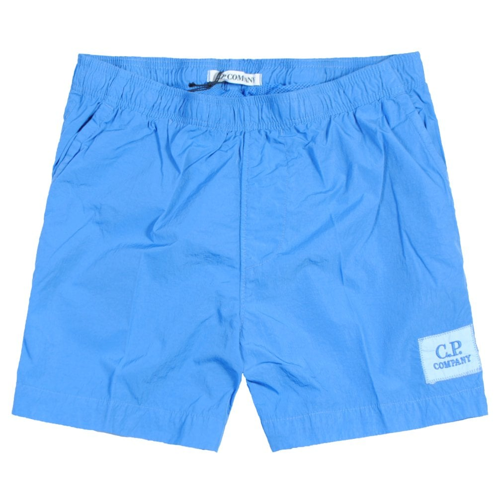 C.p. Company C.P Company Kids Logo Patch Swimshorts Colour: BLUE, Size: 10 YEARS