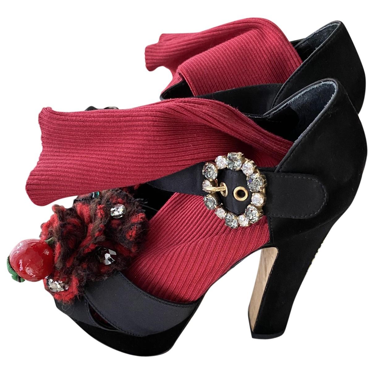 Dolce & Gabbana - Sandales   pour femme - rouge