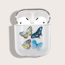 1pc Butterfly Print AirPods Case