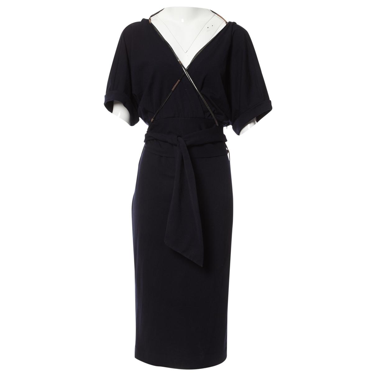 Brunello Cucinelli \N Blue Wool dress for Women L International