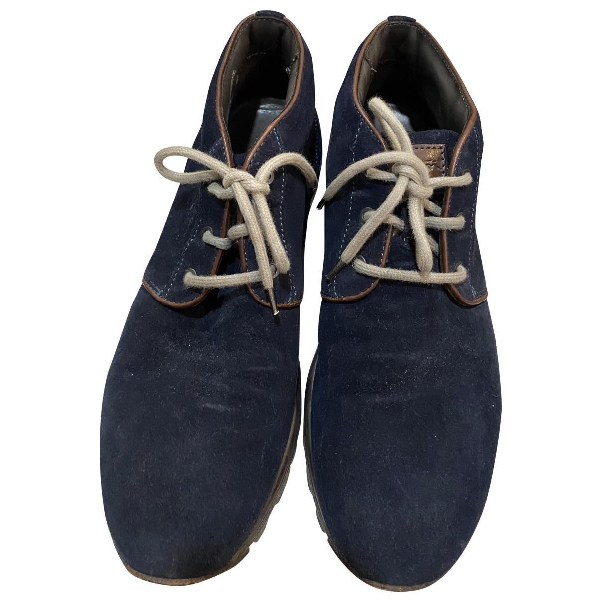 Santoni N Multicolour Suede Boots for Men 44 IT