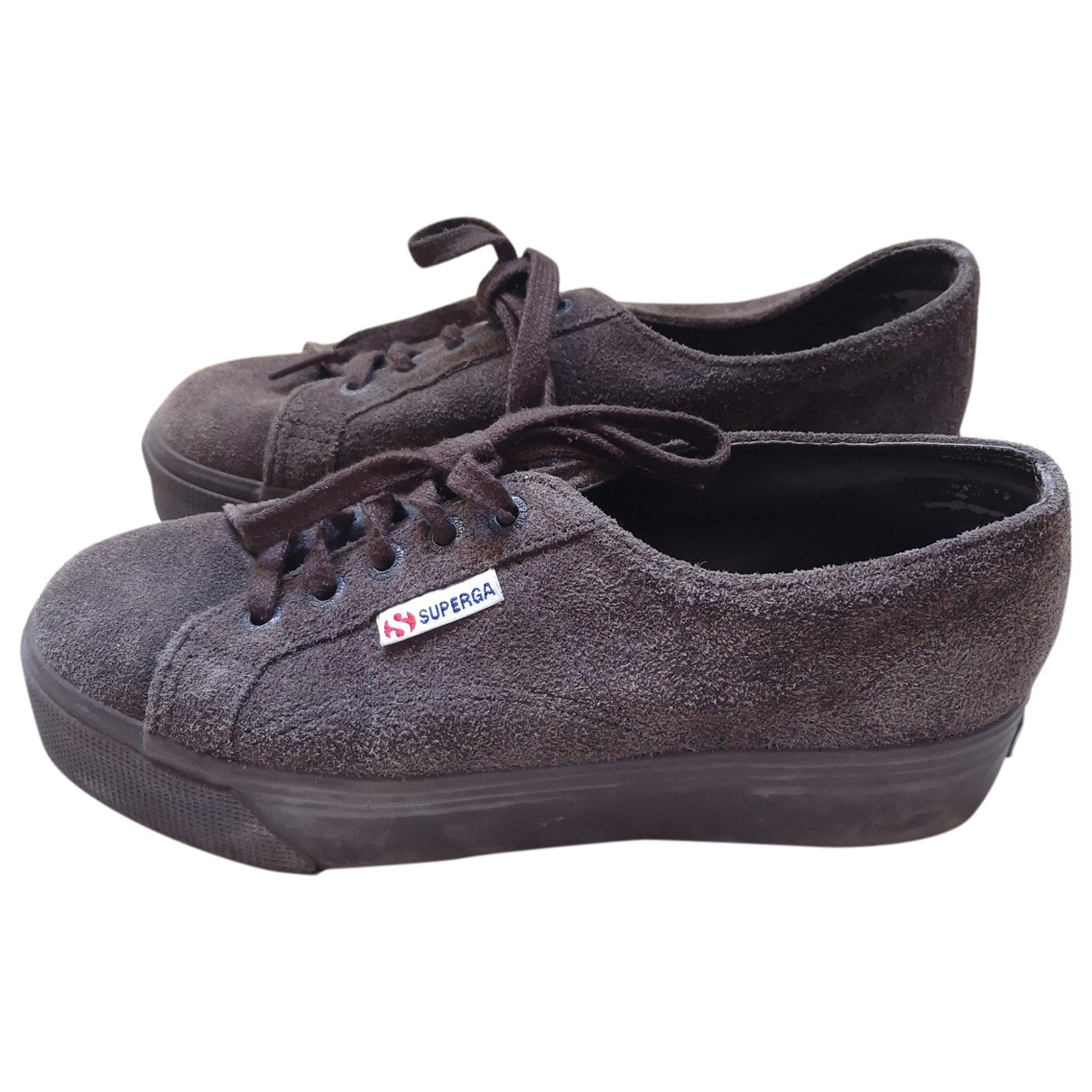 Superga \N Brown Suede Trainers for Women 37 EU