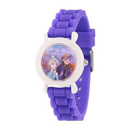 Disney Frozen Girls Purple Strap Watch-Wds000823, One Size , No Color Family