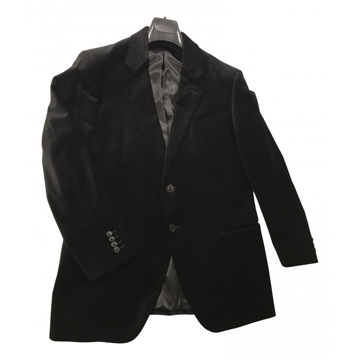Armani Collezioni \N Black Velvet jacket  for Men 54 IT