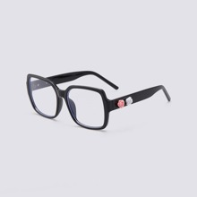 Retro Anti-blue-light Flat-lens Glasses
