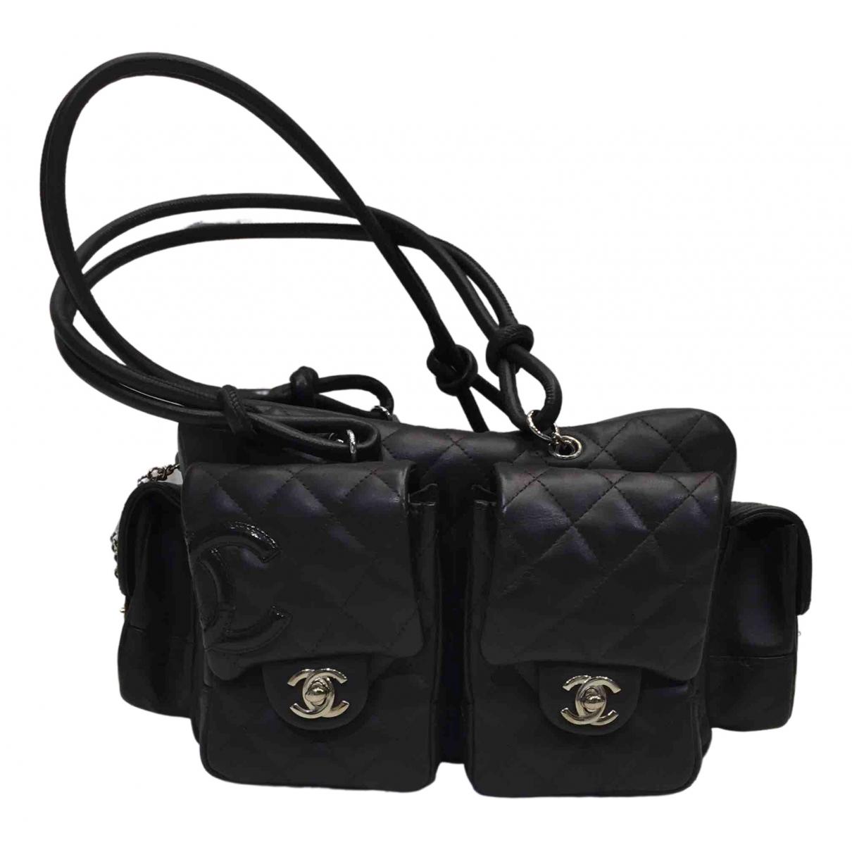 Chanel - Sac a main Cambon pour femme en cuir - marron