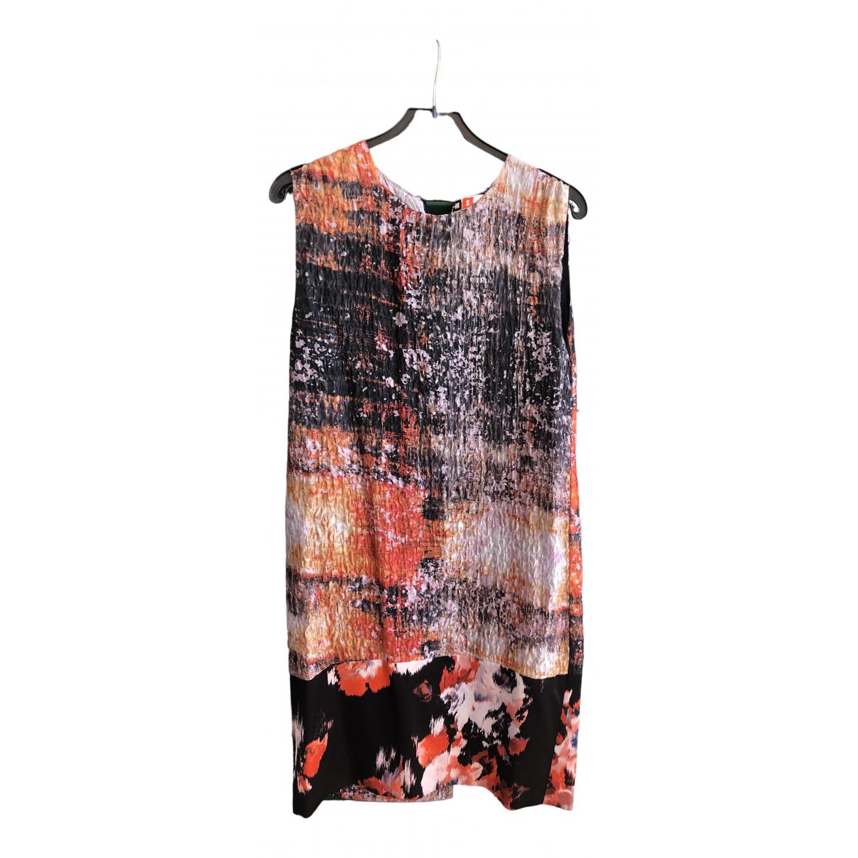 Msgm - Robe   pour femme en soie - orange