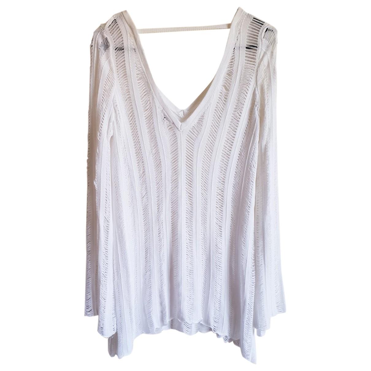 River Island - Top   pour femme en coton - blanc