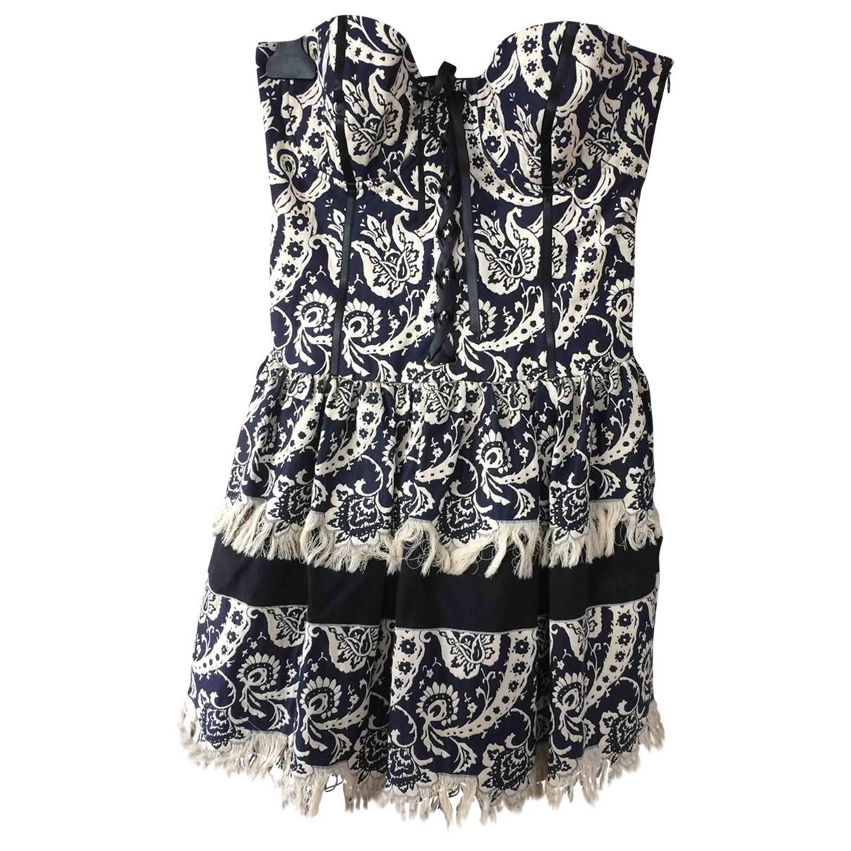 Paule Ka \N Blue Cotton dress for Women 38 FR