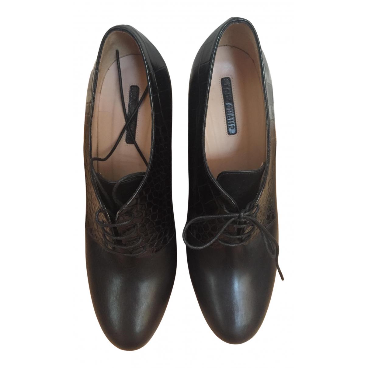 Botas con cordones de Cuero Longchamp