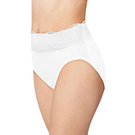 Bali Passion For Comfort Microfiber High Cut Panty Dfpc62, 6 , White