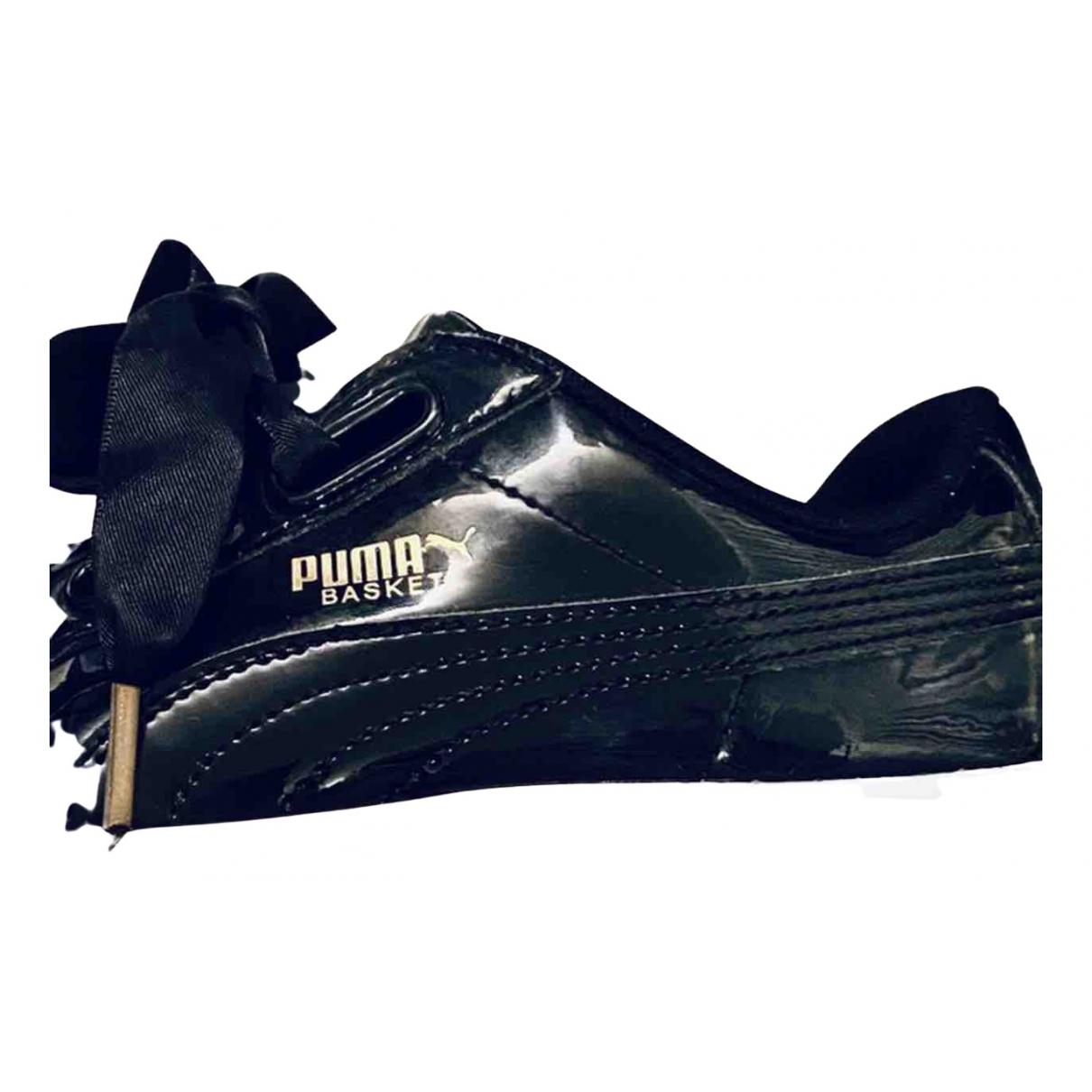 Puma \N Sneakers in  Schwarz Lackleder