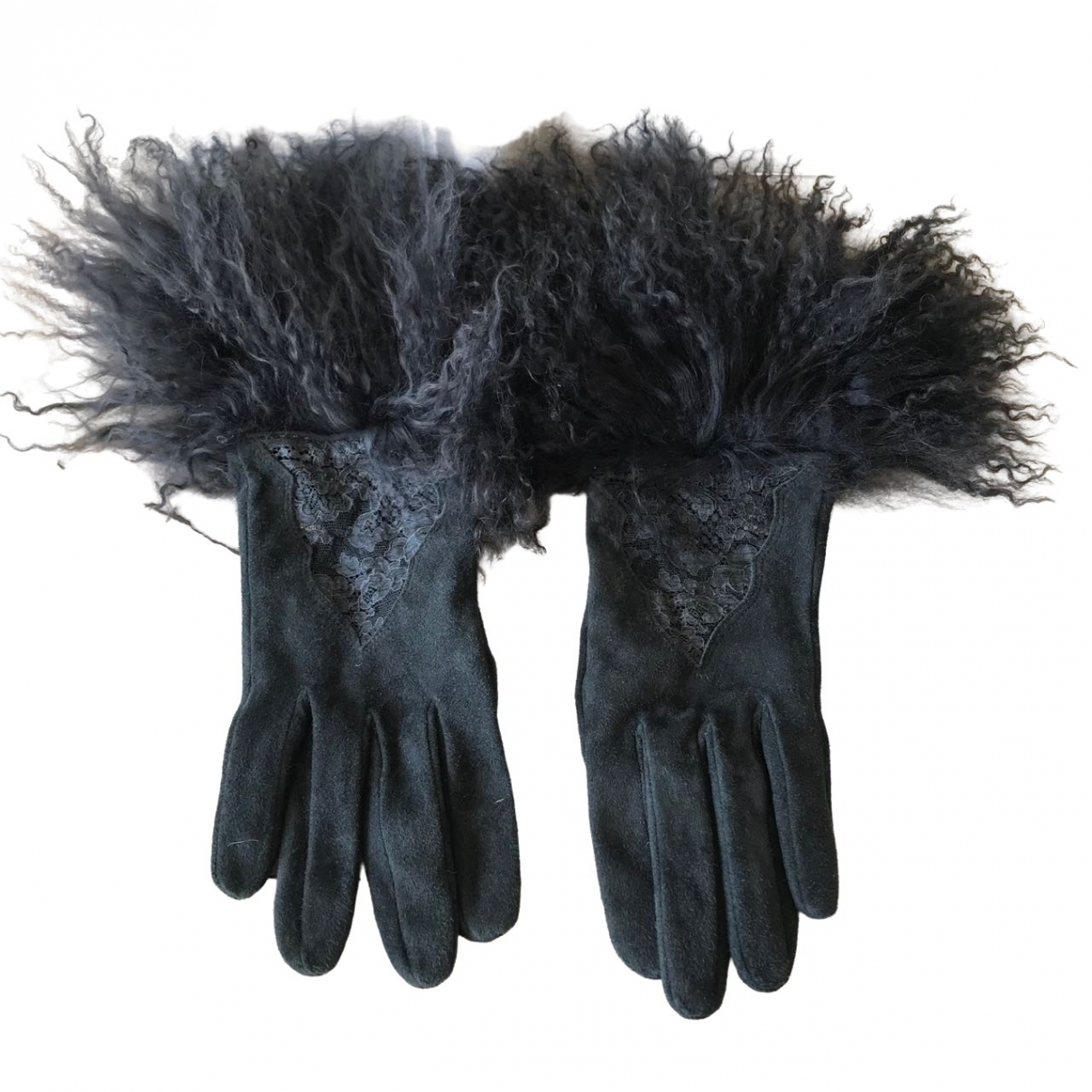 Dior \N Handschuhe in  Grau Veloursleder