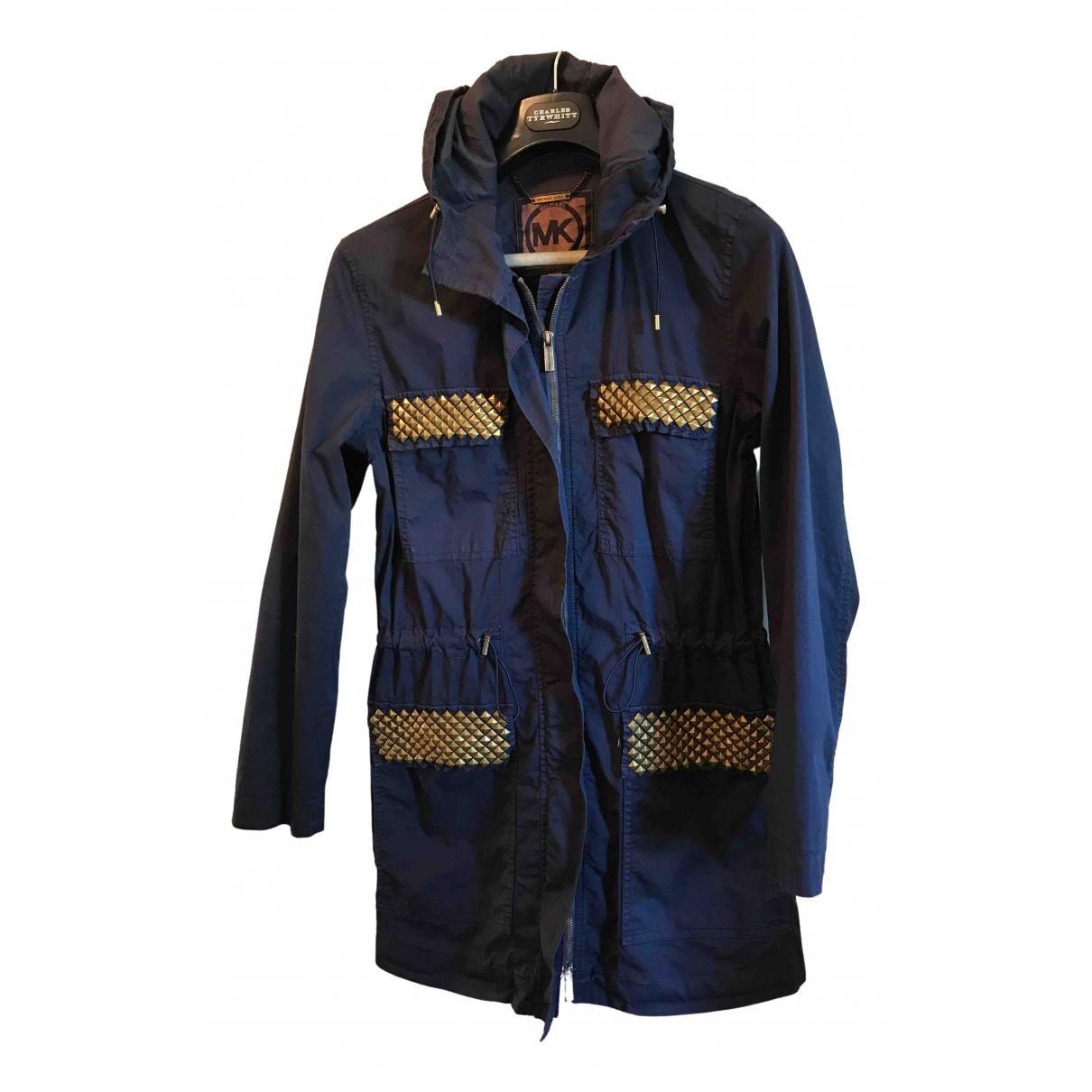 Michael Kors - Manteau   pour femme en coton - bleu