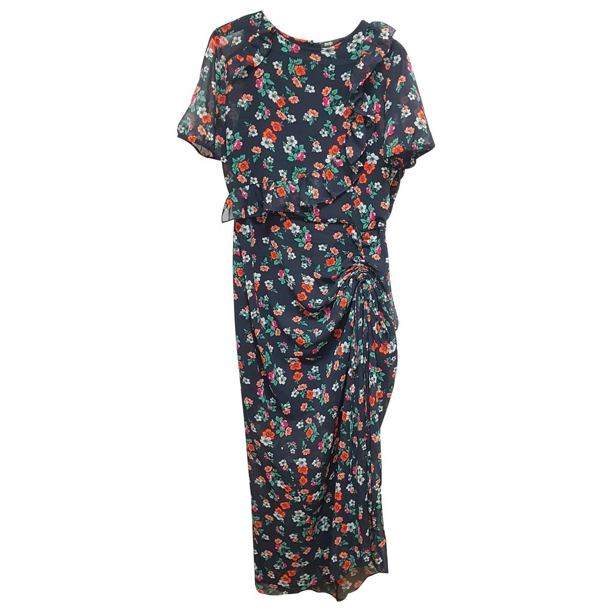 Maje \N Kleid in  Bunt Polyester