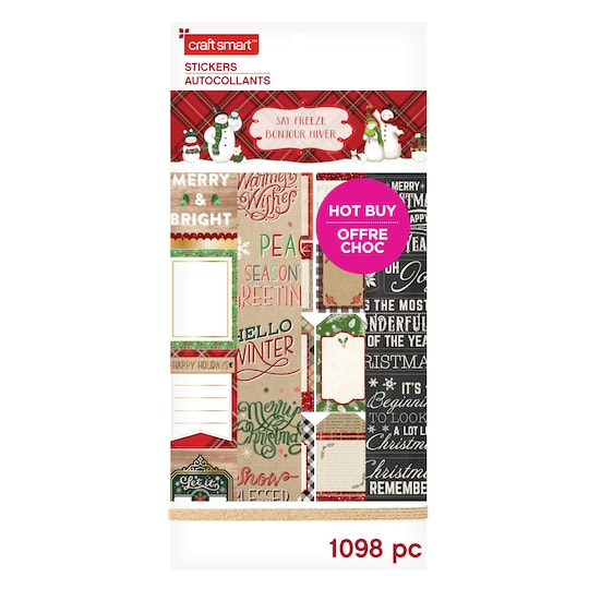 Traditional Christmas Stickers By Craft Smart™ | Michaels®