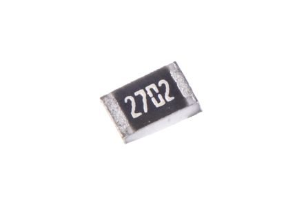 TE Connectivity CRG Series Thick Film Surface Mount Fixed Resistor 0805 Case 27kΩ ±1% 0.125W ±100ppm/°C (50)
