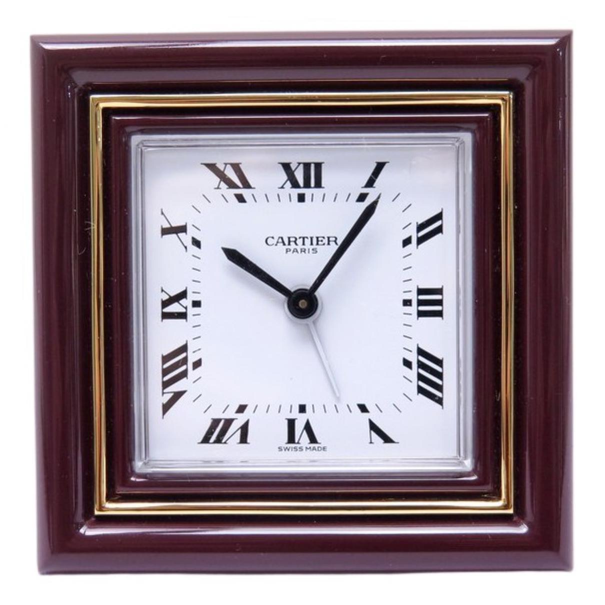 Cartier \N Uhr in  Bordeauxrot Stahl