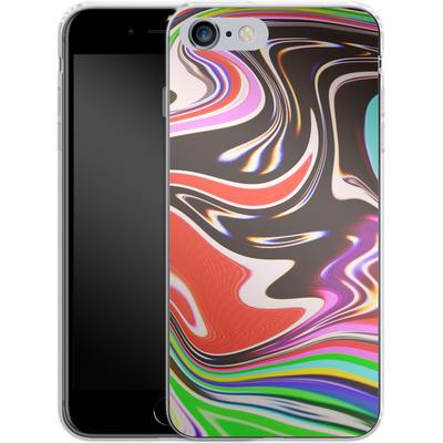 Apple iPhone 6 Plus Silikon Handyhuelle - TV Swirl von #basic